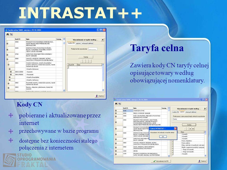 INTRASTAT++ Taryfa celna