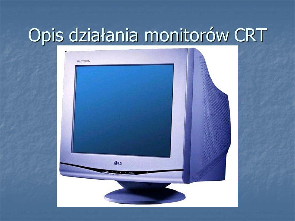 Opis działania monitorów CRT