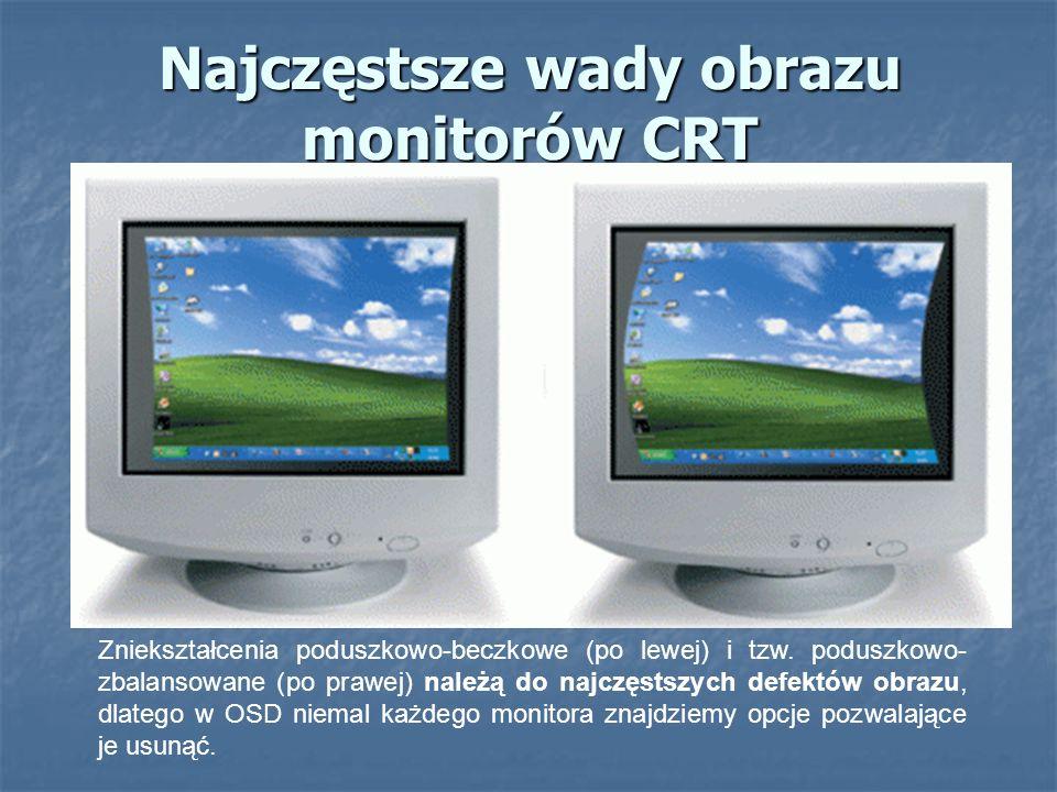 Najczęstsze wady obrazu monitorów CRT