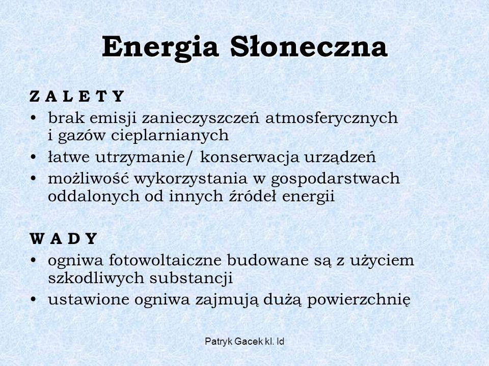 Energia Słoneczna Z A L E T Y