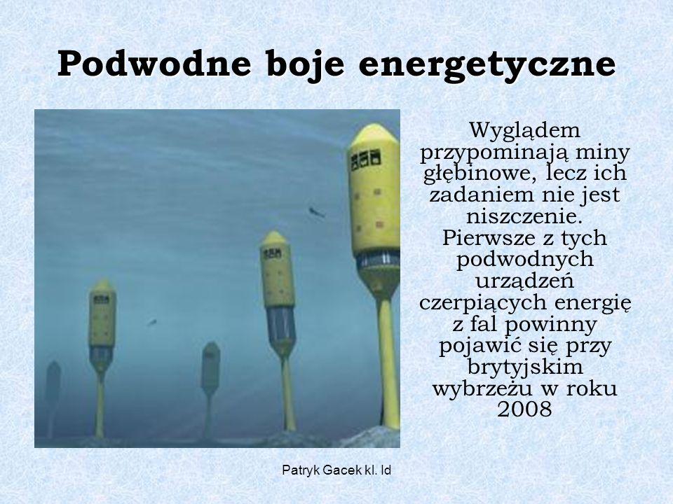 Podwodne boje energetyczne
