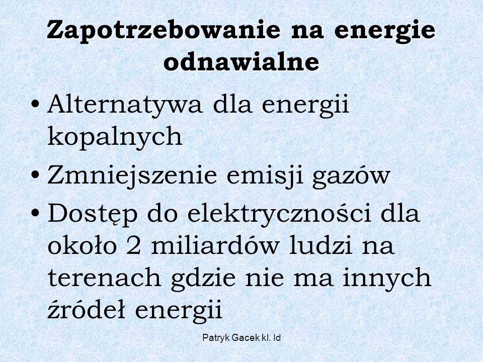 Zapotrzebowanie na energie odnawialne