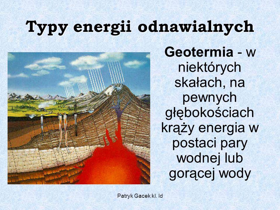 Typy energii odnawialnych