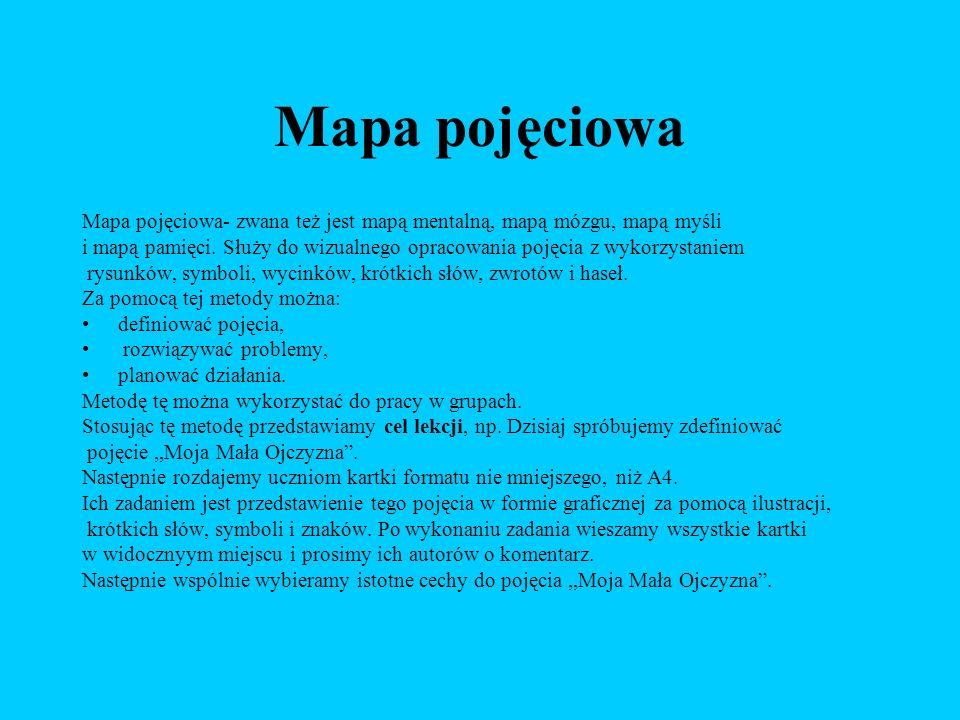 Mapa pojęciowa Mapa pojęciowa- zwana też jest mapą mentalną, mapą mózgu, mapą myśli.