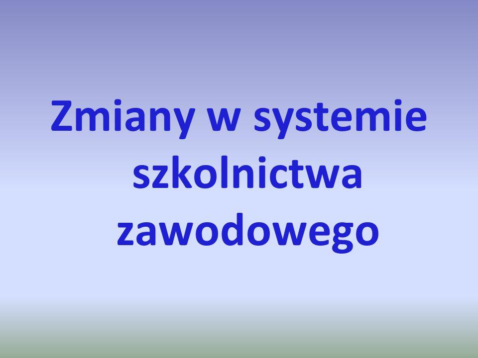 Zmiany w systemie szkolnictwa zawodowego