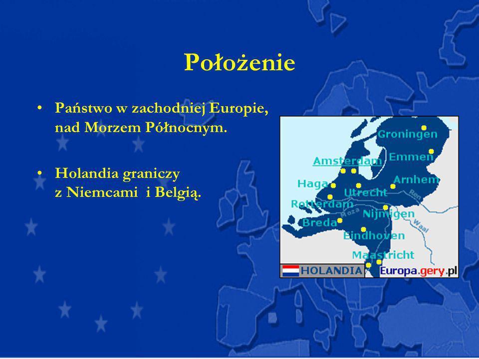 Położenie Państwo w zachodniej Europie, nad Morzem Północnym.