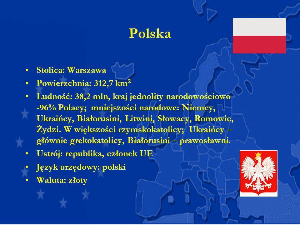 Polska Stolica: Warszawa Powierzchnia: 312,7 km2