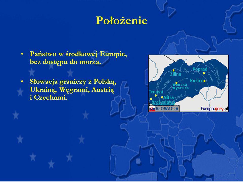 Położenie Państwo w środkowej Europie, bez dostępu do morza.