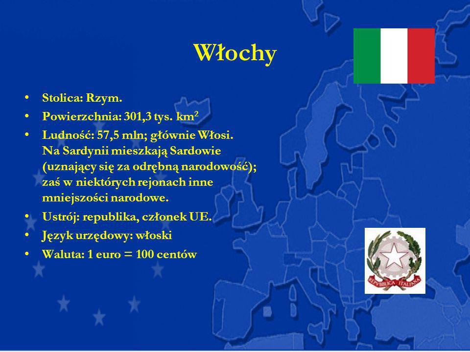 Włochy Stolica: Rzym. Powierzchnia: 301,3 tys. km2