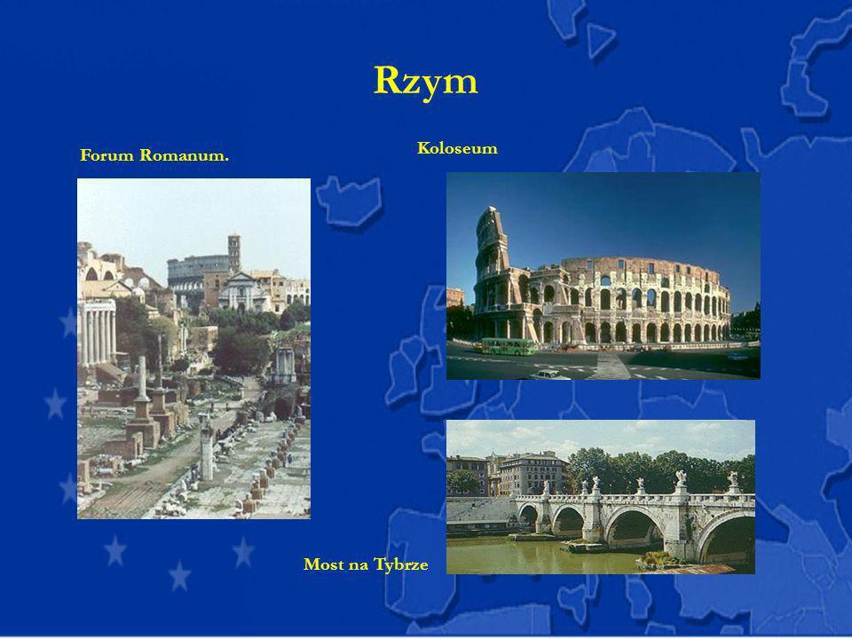 Rzym Koloseum Forum Romanum. Most na Tybrze
