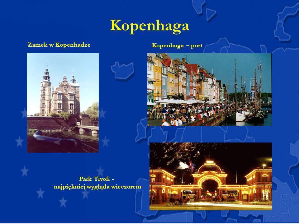 Kopenhaga Kopenhaga – port Zamek w Kopenhadze Park Tivoli -