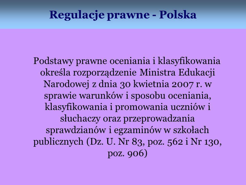 Regulacje prawne - Polska
