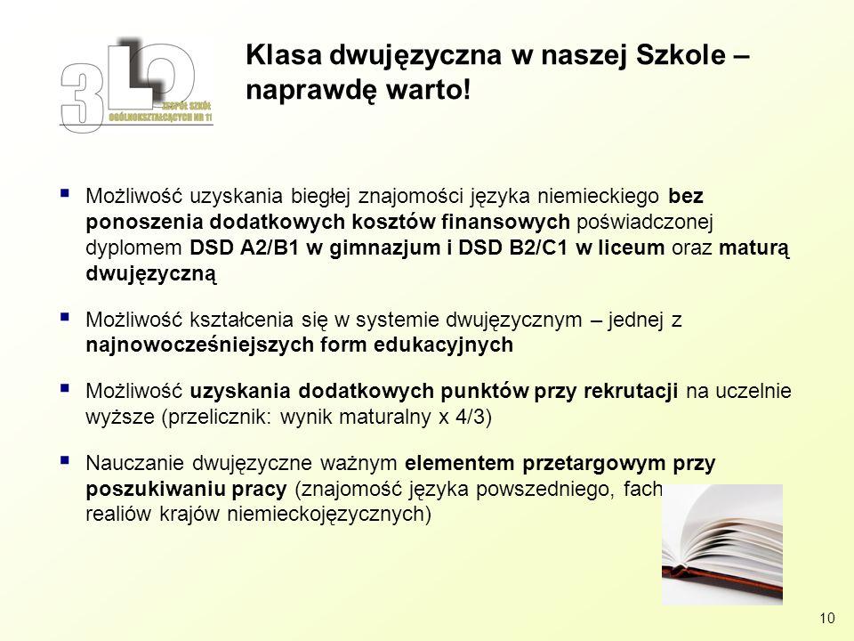 Klasa dwujęzyczna w naszej Szkole – naprawdę warto!