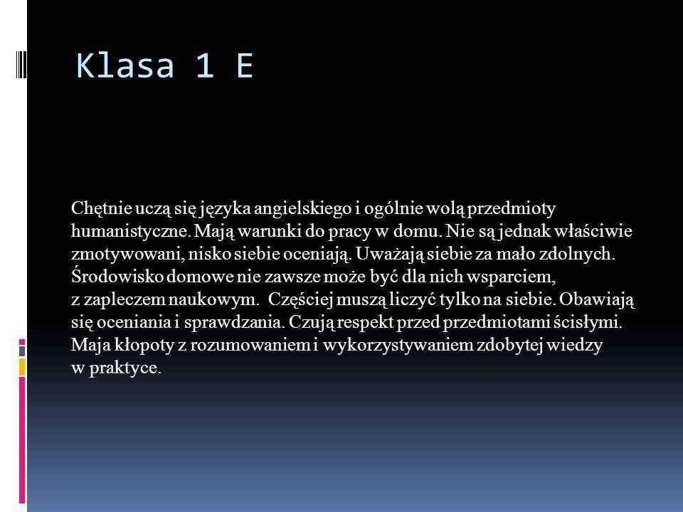 Klasa 1 E