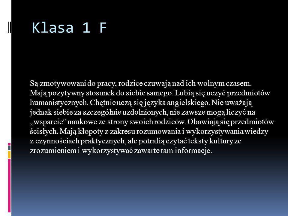 Klasa 1 F