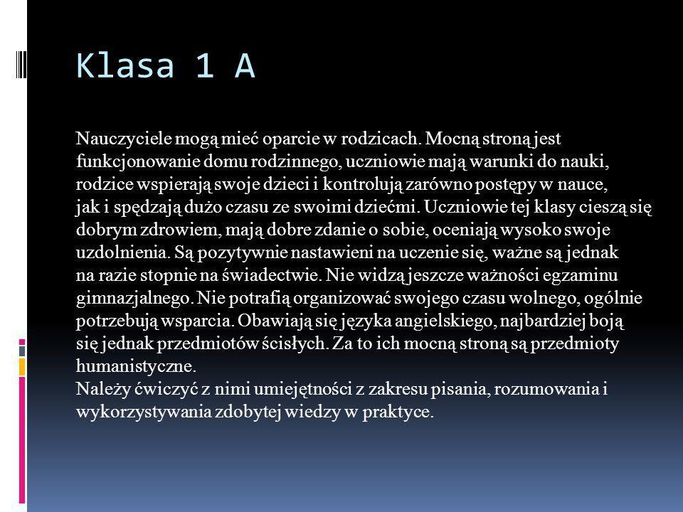 Klasa 1 A