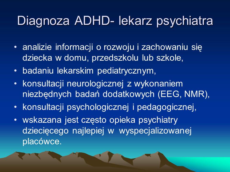 Diagnoza ADHD- lekarz psychiatra