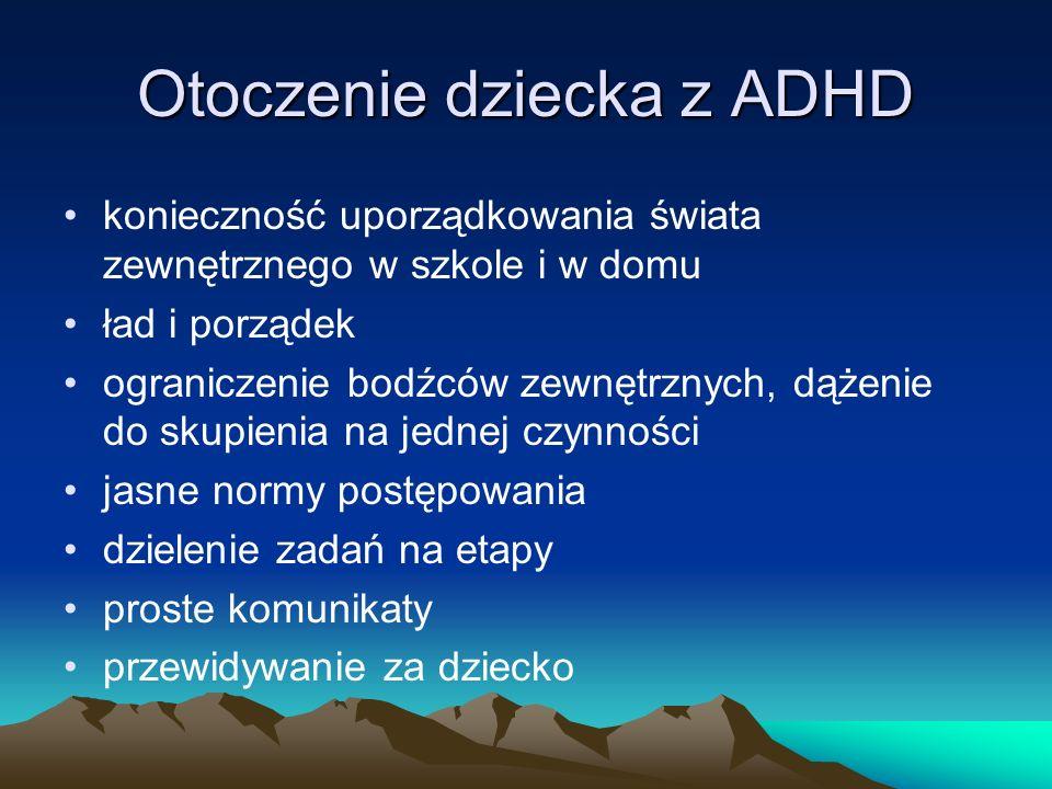 Otoczenie dziecka z ADHD