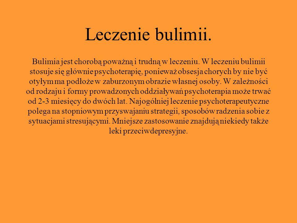 Leczenie bulimii.