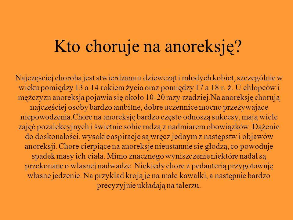 Kto choruje na anoreksję