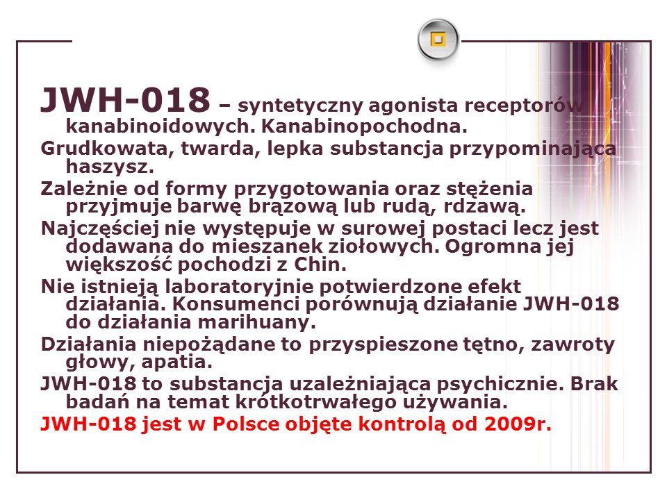 JWH-018 – syntetyczny agonista receptorów kanabinoidowych