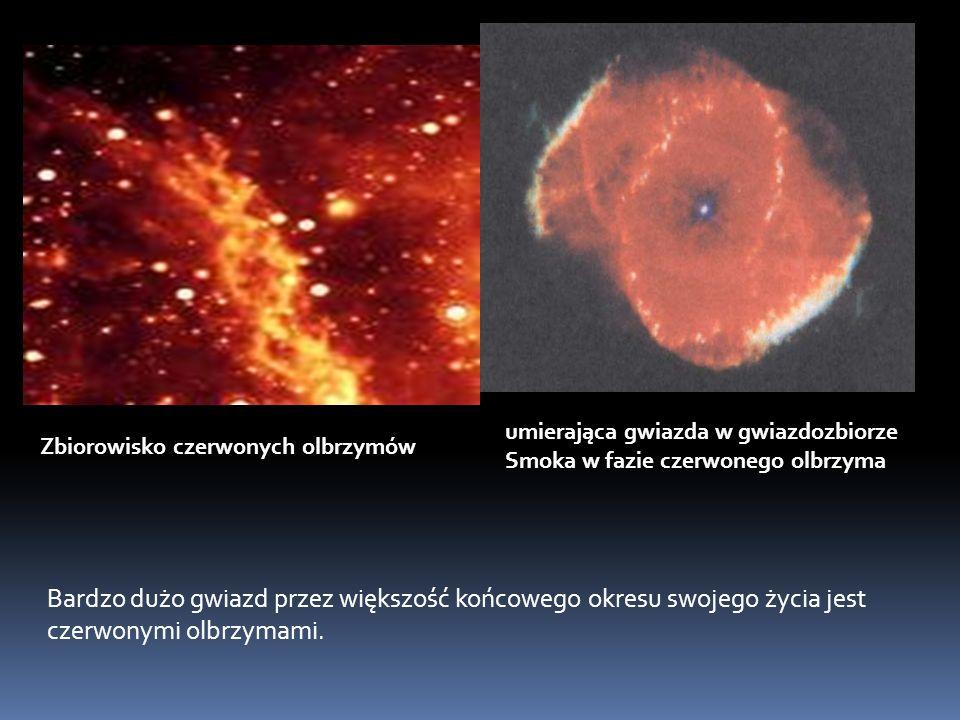 umierająca gwiazda w gwiazdozbiorze