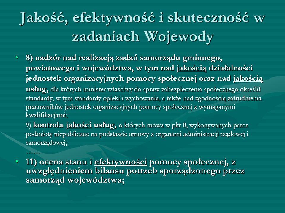 Jakość, efektywność i skuteczność w zadaniach Wojewody