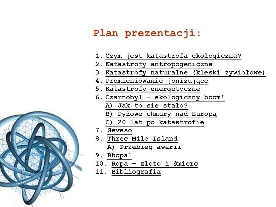 Plan prezentacji: Czym jest katastrofa ekologiczna