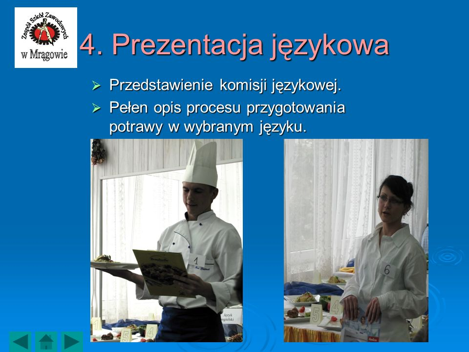 4. Prezentacja językowa Przedstawienie komisji językowej.