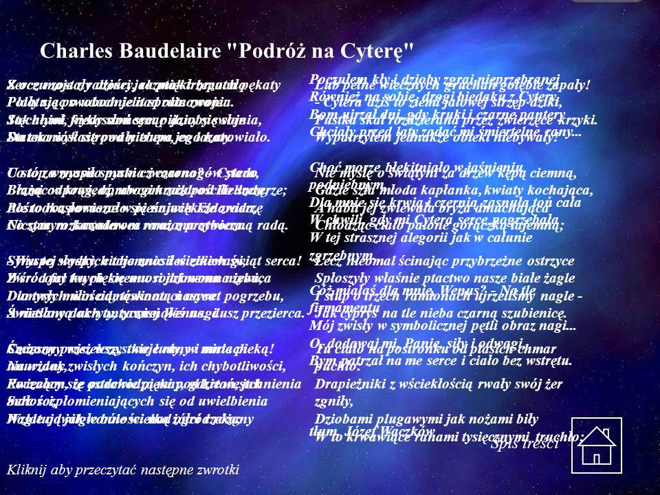 Charles Baudelaire Podróż na Cyterę