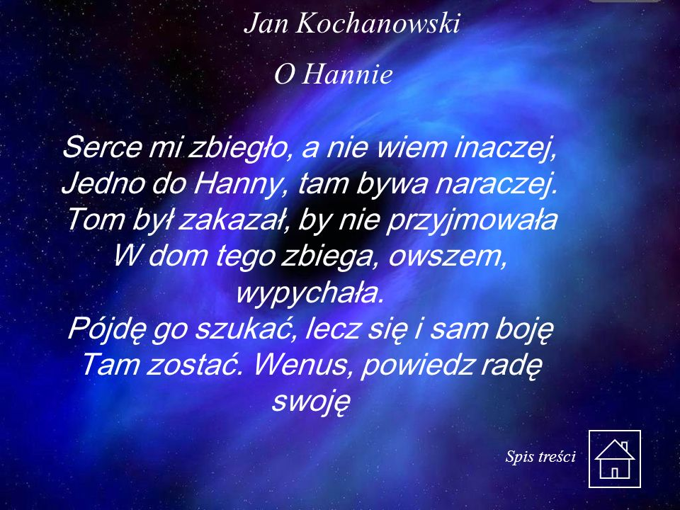 Jan Kochanowski O Hannie