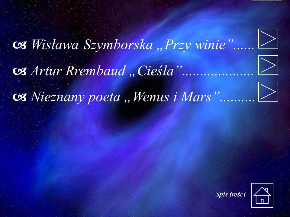 """Wisława Szymborska """"Przy winie ......"""
