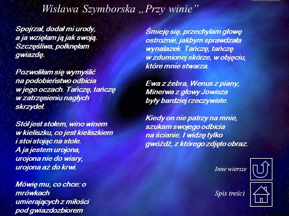 """Wisława Szymborska """"Przy winie"""