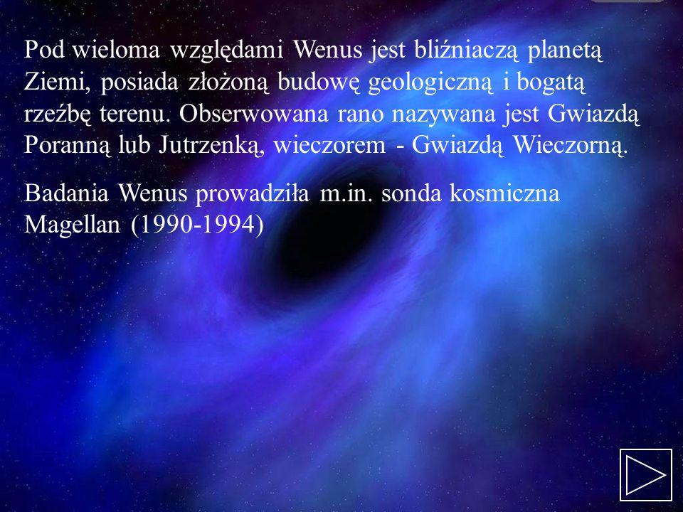 Pod wieloma względami Wenus jest bliźniaczą planetą Ziemi, posiada złożoną budowę geologiczną i bogatą rzeźbę terenu. Obserwowana rano nazywana jest Gwiazdą Poranną lub Jutrzenką, wieczorem - Gwiazdą Wieczorną.