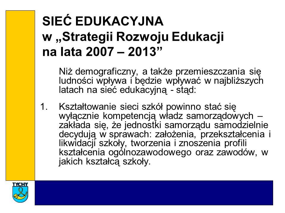 """SIEĆ EDUKACYJNA w """"Strategii Rozwoju Edukacji na lata 2007 – 2013"""