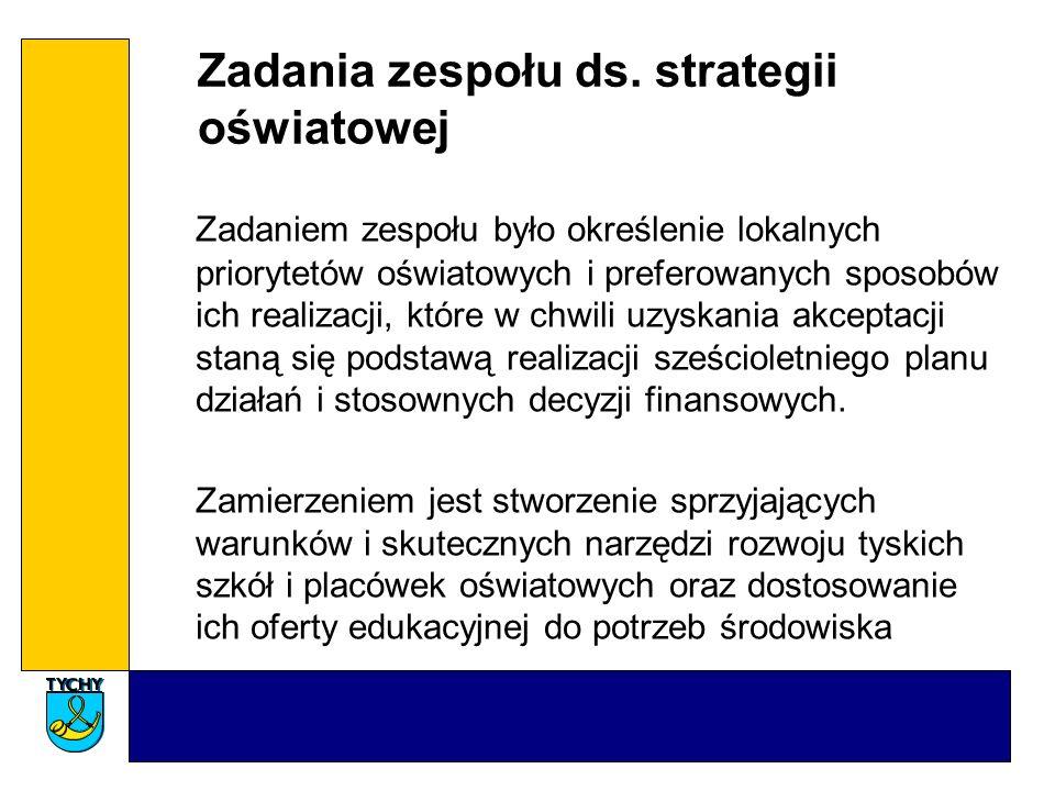 Zadania zespołu ds. strategii oświatowej