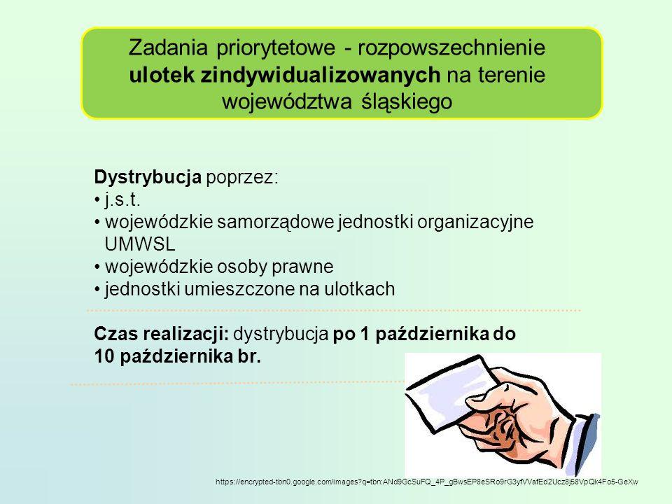 Zadania priorytetowe - rozpowszechnienie ulotek zindywidualizowanych na terenie województwa śląskiego