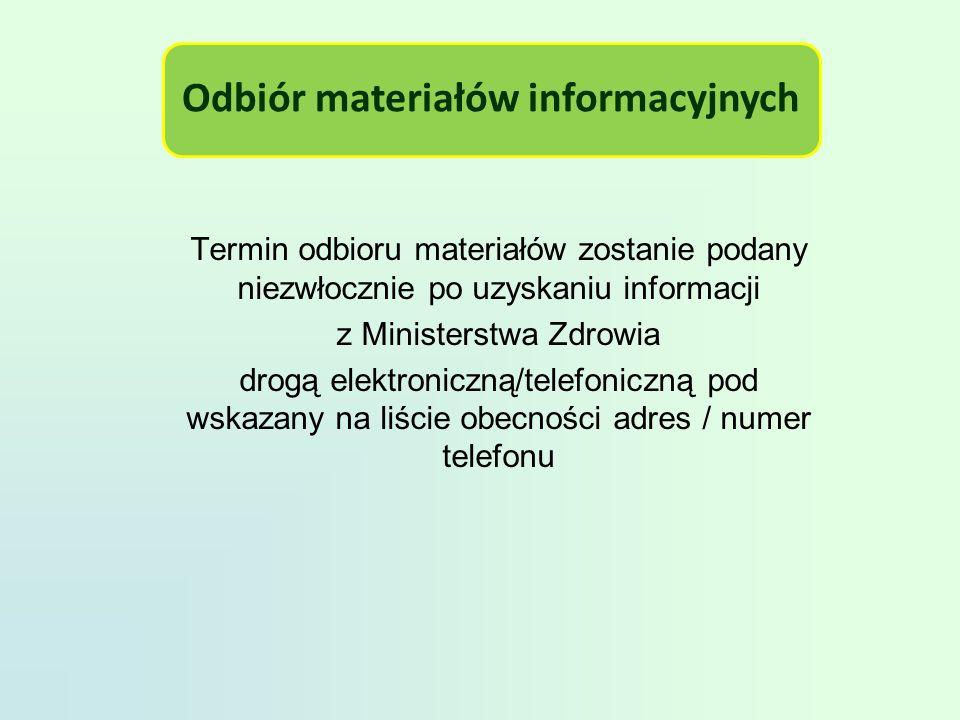Odbiór materiałów informacyjnych