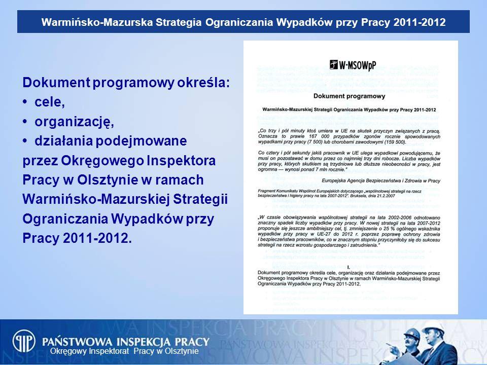 Warmińsko-Mazurska Strategia Ograniczania Wypadków przy Pracy 2011-2012