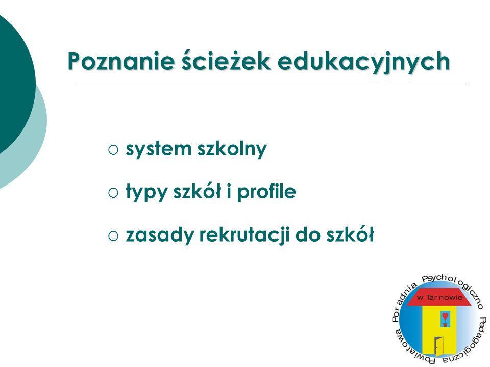 Poznanie ścieżek edukacyjnych