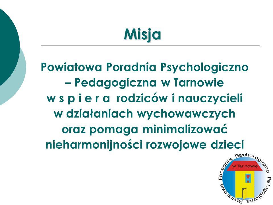 Misja Powiatowa Poradnia Psychologiczno – Pedagogiczna w Tarnowie