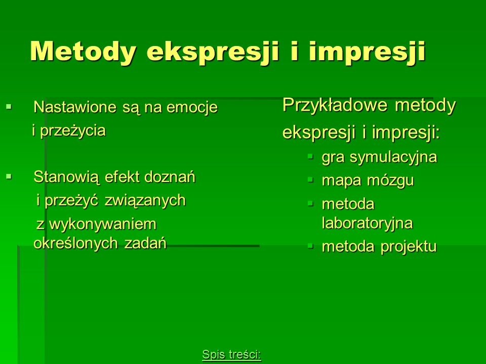 Metody ekspresji i impresji