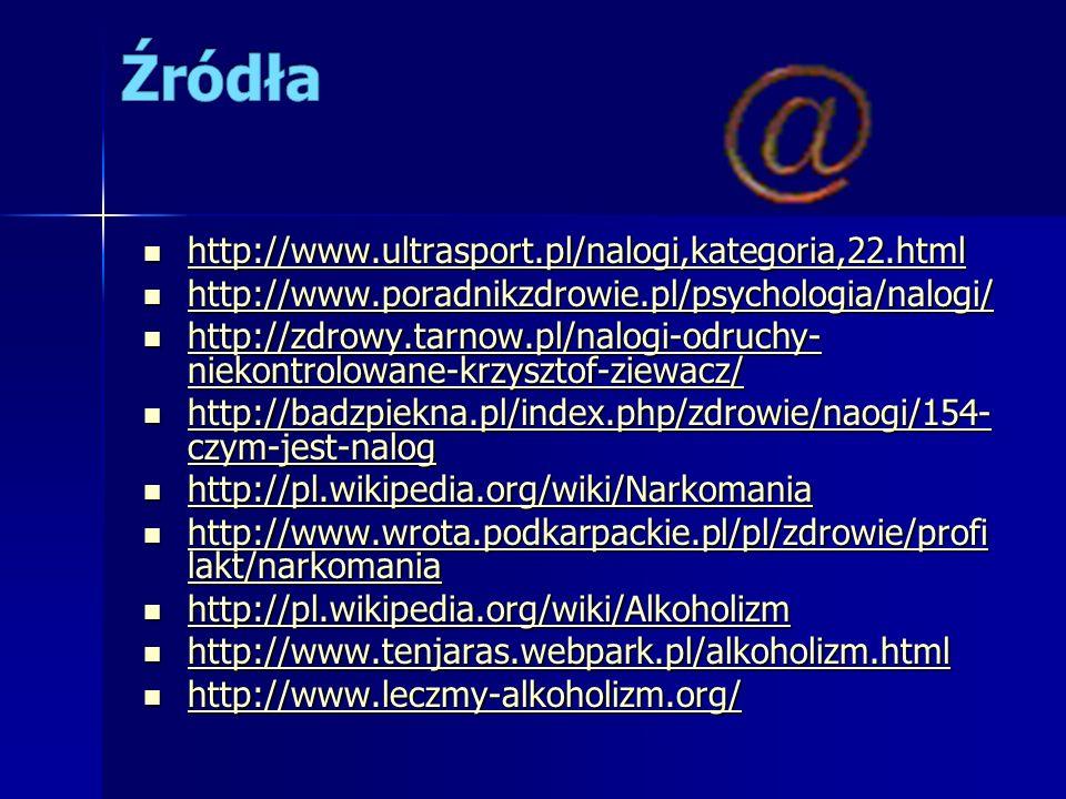 Źródła http://www.ultrasport.pl/nalogi,kategoria,22.html