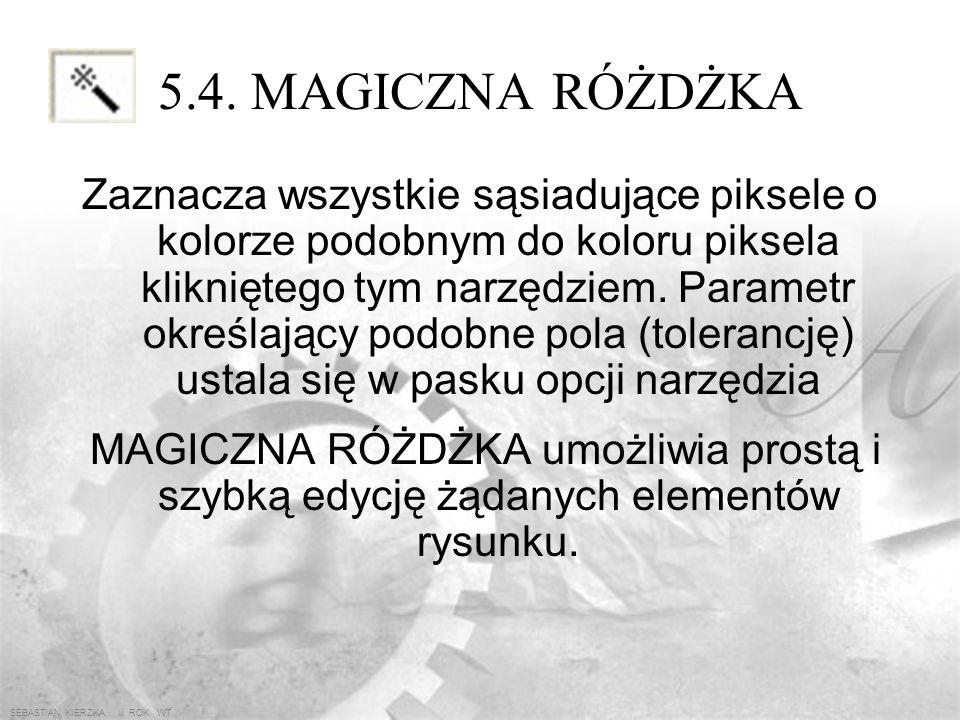 5.4. MAGICZNA RÓŻDŻKA