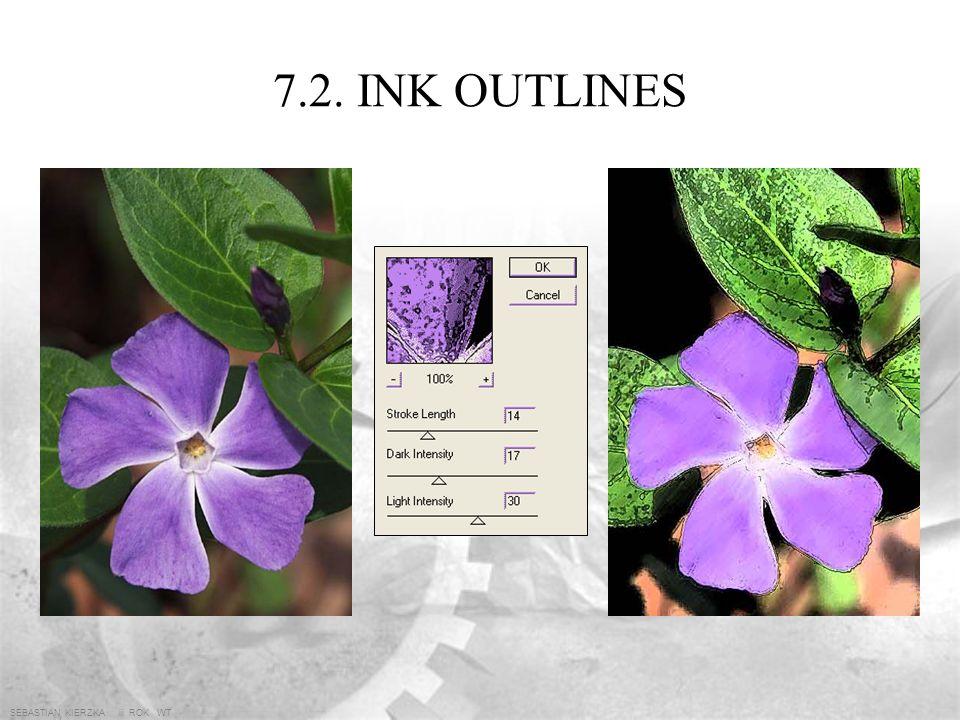 7.2. INK OUTLINES SEBASTIAN KIERZKA iii ROK WT