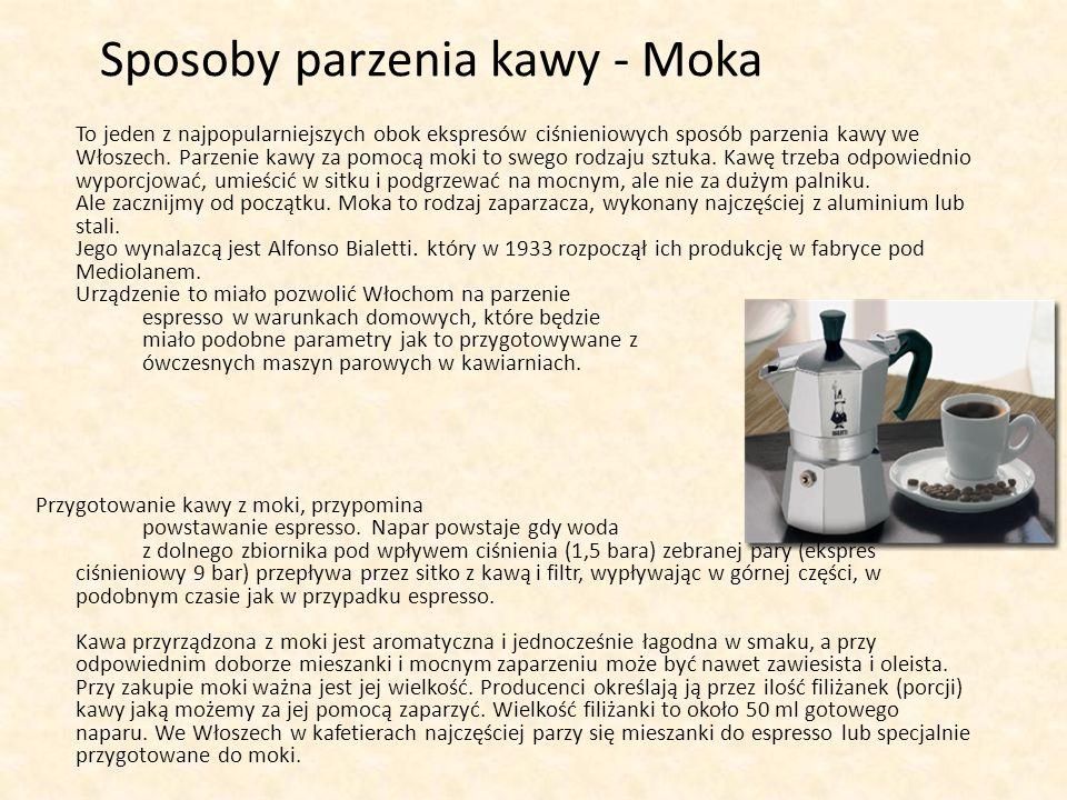 Sposoby parzenia kawy - Moka