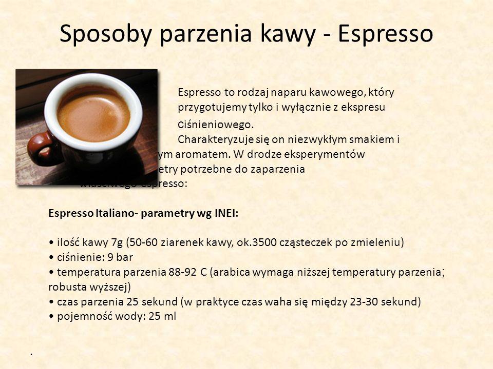 Sposoby parzenia kawy - Espresso