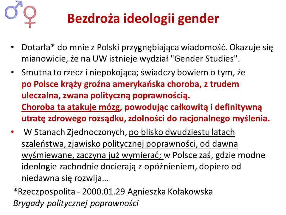 Bezdroża ideologii gender