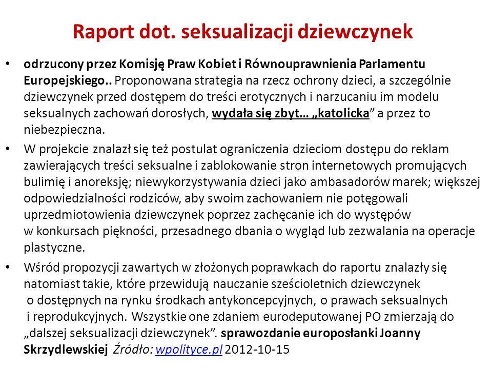 Raport dot. seksualizacji dziewczynek