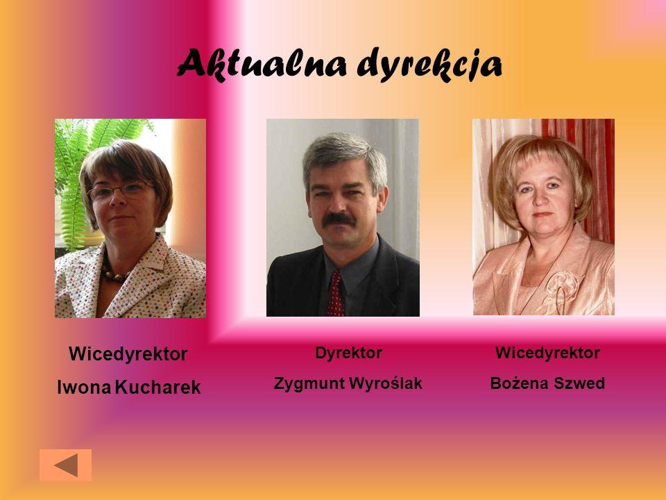 Aktualna dyrekcja Wicedyrektor Iwona Kucharek Dyrektor